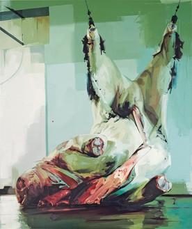 Jenny Saville, Torso II, 2004–05 Oil on canvas, 141 ¾ × 115 ¾ inches (360 × 294 cm)© Jenny Saville