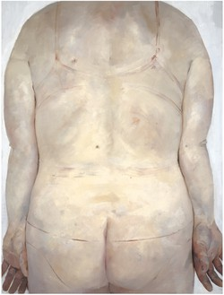 Jenny Saville, Trace, 1993 Oil on canvas, 84 × 72 inches (213.4 × 182.9 cm)© Jenny Saville