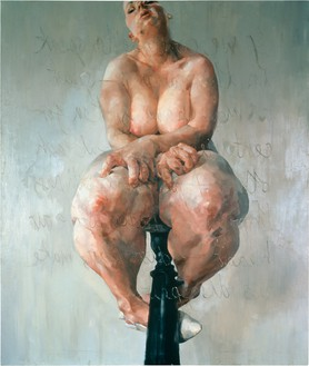 Jenny Saville, Propped, 1992 Oil on canvas, 84 × 72 inches (213.4 × 182.9 cm)© Jenny Saville