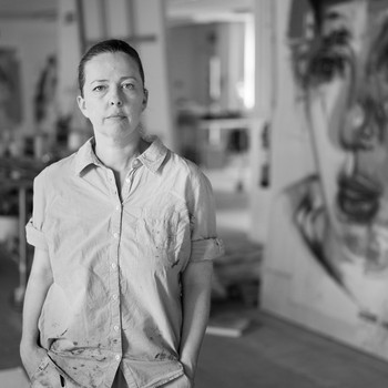 A portrait photograph of Jenny Saville