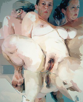 Jenny Saville, Reflective Flesh, 2002–03 Oil on canvas, 120 ⅛ × 96 ⅛ inches (305.1 × 244 cm)© Jenny Saville