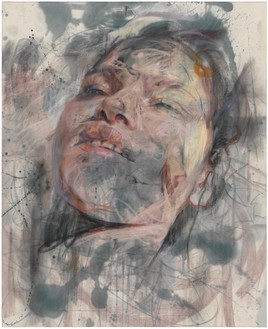 Jenny Saville, Dusk, 2014 Charcoal and pastel on canvas, 74 ⅞ × 61 inches (190 × 155 cm)© Jenny Saville