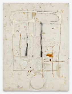 Joe Bradley, Erased Freek, 2010 Oil, spray paint, and mixed media on canvas, 88 × 66 inches (223.5 × 167.6 cm)© Joe Bradley