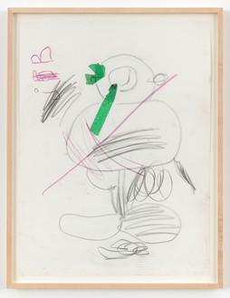 Joe Bradley, Untitled, 2013 Graphite, colored pencil, and tape on paper, 24 × 17 ⅜ inches (61 × 44.1 cm)© Joe Bradley
