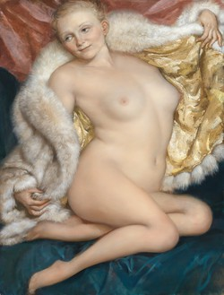 John Currin, The Old Fur, 2010 Oil on canvas, 50 × 38 inches (127 × 96.5 cm)© John Currin