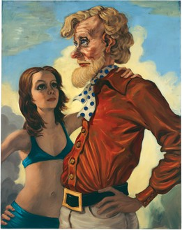 John Currin, The Neverending Story, 1994 Oil on canvas, 38 × 30 inches (96.5 × 76.2 cm)© John Currin