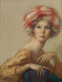 John Currin, Untitled, 2017 Oil on canvas, 40 × 30 inches (101.6 × 76.2 cm)© John Currin