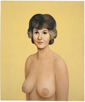 John Currin, Bea Arthur Naked, 1991 Oil on canvas, 38 × 32 inches (96.5 × 81.3 cm)© John Currin