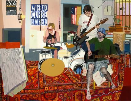 Jonas Wood, Make It Talk, Teodoro, 2006 Oil on canvas, 72 × 93 inches (182.9 × 236.2 cm)© Jonas Wood