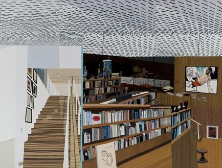 Jonas Wood, Ovitz's Library, 2013 Oil and acrylic on canvas, 100 × 132 inches (254 × 335.3 cm)© Jonas Wood