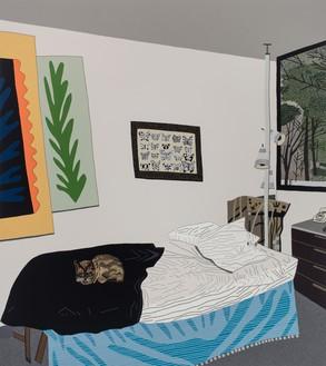 Jonas Wood, Helen's Room, 2017 Oil and acrylic on canvas, 90 × 80 inches (228.6 × 203.2 cm), National Gallery of Art, Washington, DC© Jonas Wood