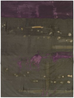 Julian Schnabel, Untitled, 1989 Oil on tarp, 127 × 96 inches (322.6 × 243.8 cm)