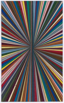 Mark Grotjahn, Untitled (Full Color Butterfly for Hillary 47.22), 2016 Color pencil on paper, 10 ⅛ × 6 ⅛ inches (25.7 × 15.6 cm)© Mark Grotjahn