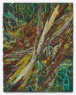 Mark Grotjahn, Untitled (New Capri VII 47.07), 2016 Oil on cardboard, 32 × 25 inches (81.3 × 63.5 cm)© Mark Grotjahn