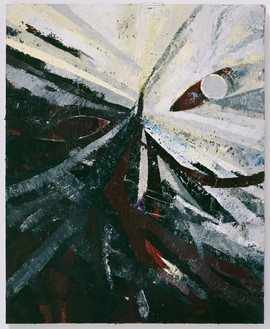 Mark Grotjahn, Untitled (Grey Face 778), 2009 Oil on cardboard mounted on linen, 60 × 48 inches (152.4 × 121.9 cm)© Mark Grotjahn