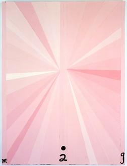 Mark Grotjahn, Untitled (Pink Butterfly M02G), 1997 Oil on linen, 48 × 34 inches (121.9 × 86.4 cm)© Mark Grotjahn