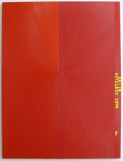 Mark Grotjahn, Untitled (Red Butterfly I Yellow P MARK GROTJAHN 07-08 751), 2007–08 Oil on linen, 72 ½ × 54 ½ inches (184.2 × 138.4 cm)© Mark Grotjahn
