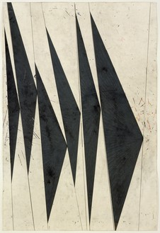 Mark Grotjahn, Untitled (Dancing Black Butterflies), 2007 (part 1) Color pencil on paper, in 9 parts© Mark Grotjahn