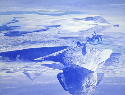 Mark Tansey, Push/Pull, 2003 Oil on canvas, 84 × 109 inches (213.4 × 276.9 cm)© Mark Tansey