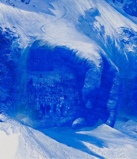 Mark Tansey, Invisible Hand, 2011 Oil on canvas, 83 ⅞ × 71 ⅞ inches (213 × 182.6 cm)© Mark Tansey
