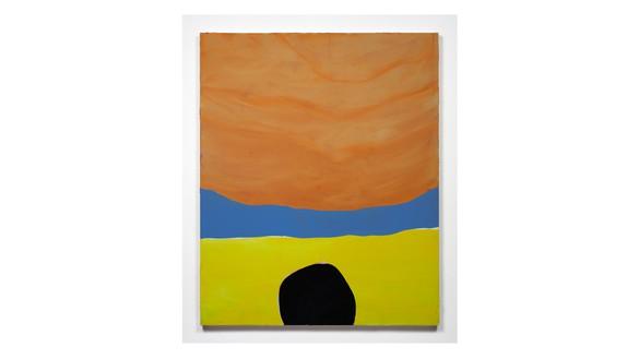 Mary Weatherford, beach, 2000 Flashe on canvas, 60 × 49 inches (152.4 × 124.5 cm)© Mary Weatherford Studio. Photo: Fredrik Nilsen Studio