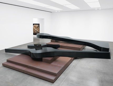 Michael Heizer, Altar 3, 2015 Weathering steel, coated with polyurethane, 5 feet ¼ inch × 30 feet × 31 feet 6 inches (1.6 × 9.1 × 9.6 m)© Michael Heizer. Photo: Rob McKeever