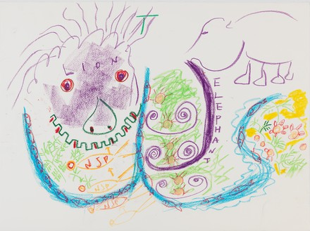 Nam June Paik, Untitled, 1999 Pastel on paper, 22 ⅜ × 30 inches (56.8 × 76.2 cm)© Nam June Paik Estate