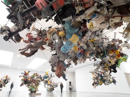 Installation view, Nancy Rubins: Our Friend Fluid Metal, Gagosian, West 21st Street, New York, July 17–September 13, 2014 Artwork © Nancy Rubins. Photo: Erich Ansel Koyama