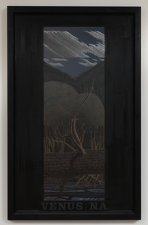 Neil Jenney, Venus From North America, 1979–86 Oil on wood, in artist's frame, 85 × 53 ¼ × 2 ¾ inches (215.9 × 135.3 × 7 cm)© Neil Jenney