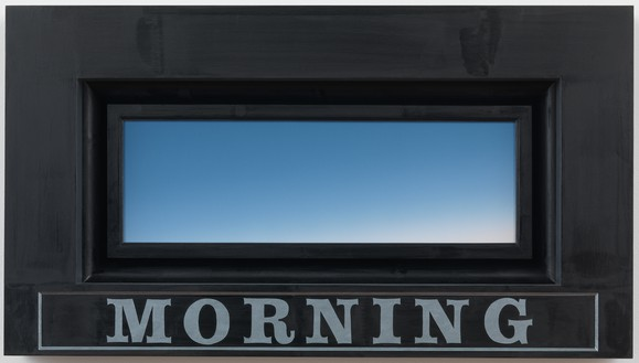 Neil Jenney, Morning, 2012 Acrylic on canvas, in artist's frame, 18 × 32 inches (45.7 × 81.3 cm)© Neil Jenney. Photo: Rob McKeever