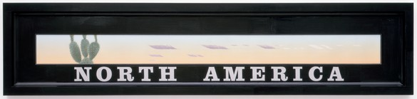 Neil Jenney, North America, 1978–90 Acrylic on panel, in artist's frame, 25 × 113 inches (63.5 × 287 cm)© Neil Jenney