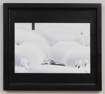 Neil Jenney, North America Depicted, 2009–10 Oil on wood, in artist's frame, 40 ¼ × 45 ¼ × 2 ⅛ inches (102.2 × 114.9 × 5.4 cm)© Neil Jenney