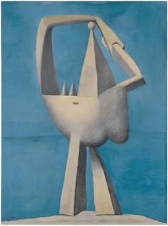 Pablo Picasso, Figure au bord de la mer, 1929 Oil on canvas, 51 ⅛ × 38 ⅛ inches (129.9 × 96.8 cm), Metropolitan Museum of Art, New York© 2018 Estate of Pablo Picasso/Artist Rights Society (ARS), New York