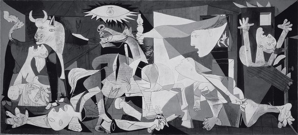 Pablo Picasso, Guernica, May 1–June 4, 1937 Oil on canvas, 137 ½ × 305 ¾ inches (349.3 × 776.6 cm), Museo Nacional Centro de Arte Reina Sofía, Madrid© 2018 Estate of Pablo Picasso/Artist Rights Society (ARS), New York