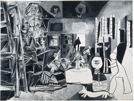Pablo Picasso, Les Ménines: vue d'ensemble (d'après Valázquez), 1957 Oil on canvas, 76 ⅜ × 102 3⅜ inches (194 × 260 cm), Museu Picasso, Barcelona© 2018 Estate of Pablo Picasso/Artist Rights Society (ARS), New York