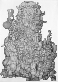 Paul Noble, Volume 6, 2007 Pencil on paper, 39 ⅜ × 27 ⅝ inches unframed (100 × 70 cm)© Paul Noble
