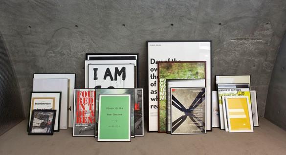 Piero Golia, Piero Golia: Posters 2003–2010, 2010 24 posters in artist's frame, Dimensions variable