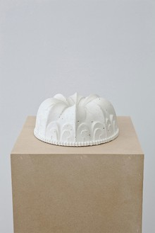 Piero Golia, Untitled #11, 2011 Cast concrete, 3 ¾ × 8 ¾ × 8 ¾ inches (9.5 × 22.2 × 22.2 cm)