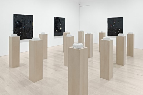 Installation view, Piero Golia: Concrete Cakes and Constellation Paintings, Gagosian, Beverly Hills, 2011 Artwork © Piero Golia. Photo: © Douglas M. Parker Studio