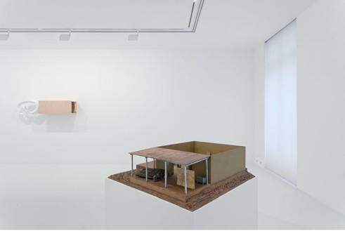 Installation view, Piero Golia: Models, Monuments, and Sculptures on Pedestals, Gagosian, Paris, 2014 Artwork © Piero Golia. Photo: Zarko Vijatovic