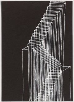 Rachel Whiteread, Stairs, 1995 Correction fluid on paper, 11 ⅝ × 8 ⅜ inches (29.5 × 21 cm)© Rachel Whiteread