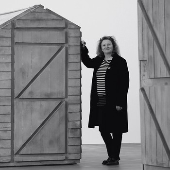 A portrait photograph of Rachel Whiteread