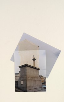 Rachel Whiteread, Trafalgar Square Project, 1998 Photographic collage and acrylic on museum board, 19 ¾ × 12 ⅜ inches (50 × 31.5 cm)© Rachel Whiteread