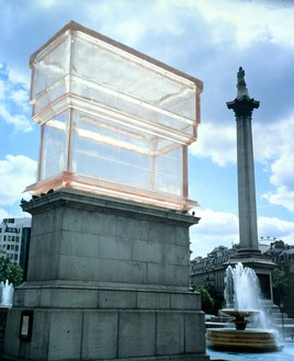 Rachel Whiteread, Monument, 2001 Resin and granite, 354 ⅜ × 200 ⅞ × 94 ½ inches (900 × 510 × 240 cm), installed in Trafalgar Square, London© Rachel Whiteread
