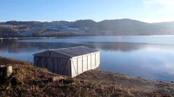 Rachel Whiteread, The Gran Boathouse, 2010 Concrete, installed in Røykenviken, Gran, Norway© Rachel Whiteread