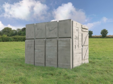 Rachel Whiteread, Detached 2, 2012 Concrete and steel, 76 ⅜ × 67 ¾ × 92 ⅛ inches (194 × 172 × 234 cm)© Rachel Whiteread. Photo: Mike Bruce