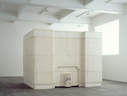 Rachel Whiteread, Ghost, 1990 Plaster and steel frame, 269 × 355 ½ × 317 ½ inches (683.3 × 903 × 806.4 cm)© Rachel Whiteread