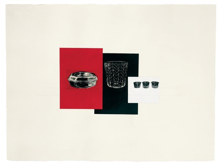 Rachel Whiteread, RED, BLACK, WHITE, 2008 Gouache, pencil, and collage on paper, 22 ½ × 30 inches (57 × 76 cm)© Rachel Whiteread