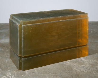 Rachel Whiteread, Untitled (Table), 1993 Resin, 27 ⅝ × 48 ¼ × 22 ¼ inches (70.2 × 122.3 × 56.5 cm)© Rachel Whiteread