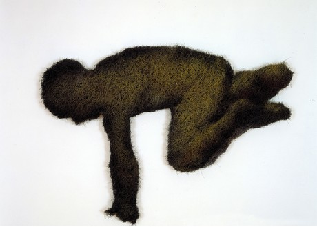 Richard Artschwager, Diving Boy I, 1998 Acrylic, rubberized hair and masonite, 48 × 34 × 2 ½ inches (121.9 × 86.4 × 6.4 cm)